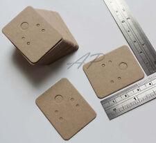 """200 Blank Earrings Jewelry Display Card in BrowKraft Paper(1 3/16"""" X 1 1/2"""")"""