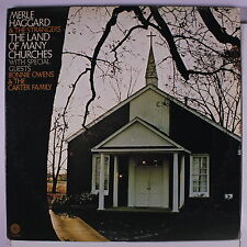 MERLE HAGGARD & THE STRANGERS: The Land Of Many Churches LP (2 LPs, w/ Bonnie O