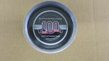 MONTREAL CANADIENS 100th SEASON OFFICIAL GAME PUCK CENTENNIAL  NHL HABS