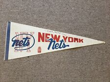 1970-71 New York Nets ABA Basketball Pennant - 3rd Year ABA! Rare!