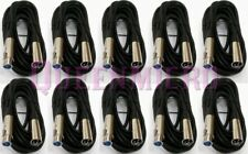 10 x 25Ft XLR 3-Pin Male Female Microphone Mic Cord Audio Shielded Cable 25 Foot