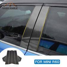 For Mini Cooper Countryman R60 Carbon Fiber Window B Pillar Trim Cover Stickers