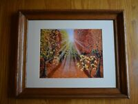 Framed Matted Limited Edition Appalachain Sun Rise On Autumn Signed Art Print