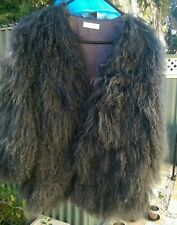 "Sass & Bide ""Strange Days"" Real Mongolian Fur Jacket sz S/M"