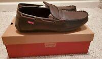 NEW ~ Levis Pierce Burnish Dark Brown Penny loafer Slip On Size 10.5