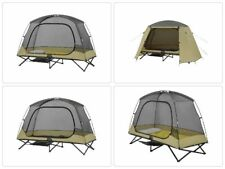 One Person Cot Tent 1 Outdoor Elevated Rainfly Shelter Bed Solo Sleeping Camping
