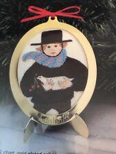 NEW P Buckley Moss 1991 Christmas Ornament Cross Stitch COA unstitched RARE KIT