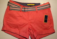 Women's Aeropostale PRINCE and FOX Short Shorts Coral Beachcomber Size 000 NWT