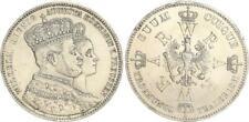 Preußen Krönungstaler 1861 Wilhelm I. und Augusta ss-vz,kl. Randfehler (43332)