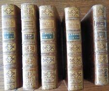 SERMONS du PERE BOURDALOUE et  du père TERRASSON 5 volumes 1763