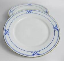 Hutschenreuther Bavaria Dessert/Bread Plates Blue Diamonds Gold Trim(3)