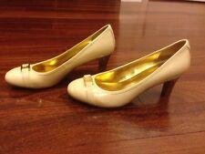 Lauren Ralph Lauren Shelbi Womens Beige Patent Round Toe Pump Heels Shoes 9.5