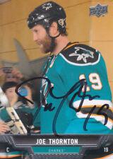 Joe Thornton Autograph 13-14 Ud San Jose Sharks Card