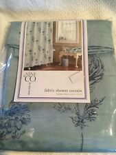 Nine West sage green floral Fabric Shower Curtain 72� Nwt