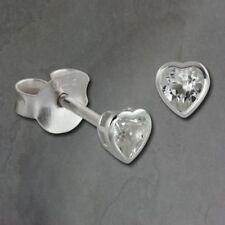 Orecchini di lusso bianco con cuore di zircone
