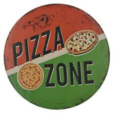 "PIZZA ZONE Decal 12"" Metal Tin Sign Xmas Christmas Party Restaurant Decor"