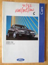 Ford cars 1991/09 uk marché prestige brochure-fiesta XR2i escort cab granada