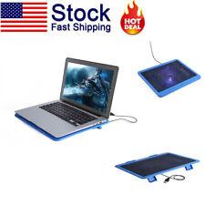 USB Laptop Cooling Pad Cooler Fan Radiator Portable Computer Notebook LED US