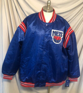 NWT Brooklyn Nets Starter Nba Baseball Inspired Retro Satin Jersey 5x Jacket
