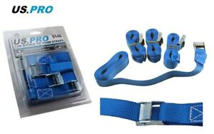 Cam Buckle Tie Down Straps US PRO 4pc Lorry Lashing Roof Rack Trailers 9148