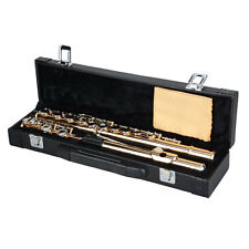 New Beginner GoldenlBand Student 17 Closed C Flute with Case&Accessories