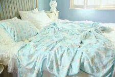 Cinnamoroll blue fuzzy blanket blankets qulit pillowcase cartoon rug new