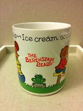Berenstain Bears RARE VINTAGE Cold Milk Hot Soup Coffee Tea Mug* Books Kid Smurf