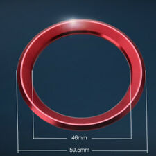 Hot Red Universal Steering Wheel Center Ring Cover Logo Decoration Trim For BMW