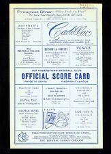*1954 Hagerstown Packers minor league baseball program v. Norfolk Tars