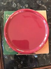 Longaberger Pottery Coaster Lid in Paprika,