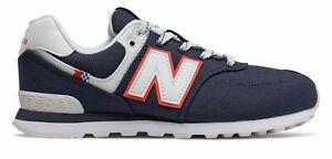 New Balance Kid's 574 Coastal Pack Big Kids Male Shoes Blue with White
