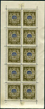 1945-6 San Marino minifoglio 50 lire stemma gomma integra spl **