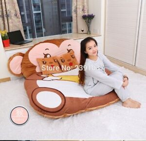 1.5x2m Cartoon Monkey Mattress Tatami Sleeping Bed Sofa Warm Cartoon Tatami