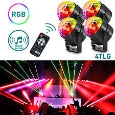 4x LED Discokugel DJ Lichteffekt Xmas Partydekoration Club RGB Bühnenbeleuchtung