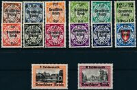 Stamp Germany Mi 716-29 1939 WW2 Reich Danzig Empire Port Poland Overprint MNH
