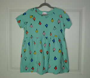 Girls Hanna Andersson Popover Top Floral Print Swing Style Tidepool Green Sz 150