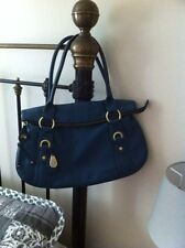 Tula '' Swan '' Pebble leather blue bag beautiful cotton lining gorgeous bag