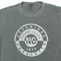 Carrowinds Comfort Colors T-Shirt MEDIUM Nicely Faded Dark Gray Charlotte NC