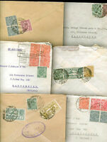 BRITISH INDIA TO GREAT BRITAIN 10 OLD COVERS VF
