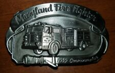 Limited Edition Fire Fighter Belt buckles pewter 1990 vintage Goth Hip-Hop west