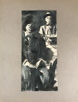 Georg Schott 1906 Ritratto Due Uomo con Hüten Anni Sessanta Anni Gangster?