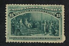 CKStamps: US Stamps Collection Scott#238 15c Columbian Unused NG