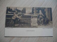 Leonardo Da Vinci Old Postcard. 1 unused