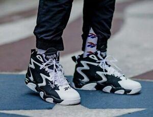 Reebok Mobius Mu OG 90's Vintage Basketball Shoes Black White CN7884 5.5 Y/ W 7