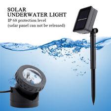 Solar Spotlights 6 LED Light Underwater Projection Garden Wall Pond Lighting
