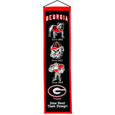 Winning Streak Wss-45003 Georgia Bulldogs NCAA Heritage Banner 8x32