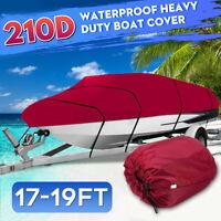 17-19ft Heavy Duty Boat Speedboat Cover Runabouts Waterproof Fishing Ski V-Hull