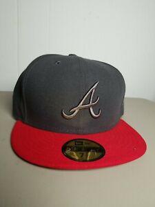 ATLANTA BRAVES New Era 59Fifty SAMPLE HAT CAP Fitted MLB Baseball Size 7 1/2