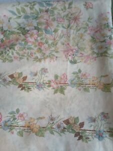 Vintage Dorma Country Diary Double Duvet Cover Honeysuckle rose 70s