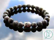 Buddha Chinese Labradorite Natural Gemstone Bracelet 7-8'' Elasticated Healing